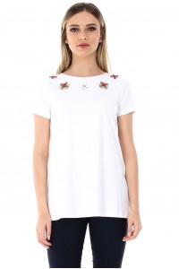 White top with flowers Aimelia - BR1763
