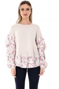 Cream cotton top Aimelia - BR1783