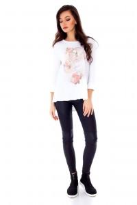 "White t-shirt ""Home sweet home"" by Aimelia - BR1729"