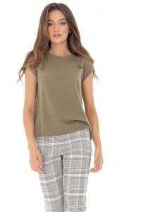 Khaki cotton t-shirt - Aimelia - BR2134