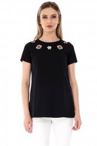 Black top with flowers Aimelia - BR1764
