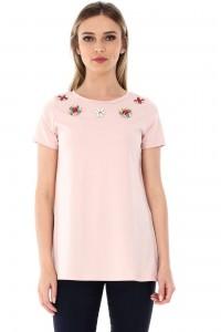 Peach top with flowers Aimelia - BR1765
