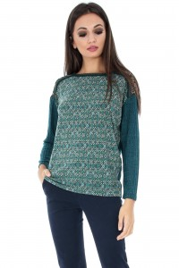 Green Shirt With Print - BR1541