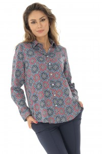 Printed cotton shirt  AIMELIA - BR2125