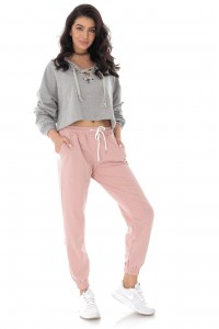 Tracksuit bottoms- pink - AIMELIA - TR394
