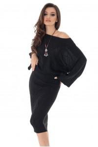 Compleu negru, ROH, tricotat - DR3679