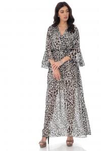 Printed wrap over maxi dress - AIMELIA - DR4181