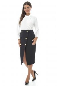 Pencil skirt, Aimelia Fr279, with button detail.