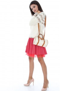 Red Skirt With Polka Dots - FR337