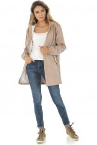 A lightweight beige trench style jacket, Aimelia - JR445