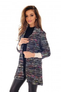 Multicoloured striped jacket - AIMELIA - JR419