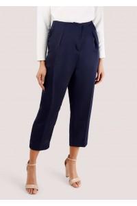 Navy trousers with folds, Aimelia - TR322