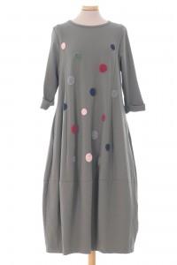 Oversized midi dress, khaki,  Aimelia - DR4343