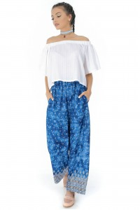 Blue casual trousers Aimelia - TR266