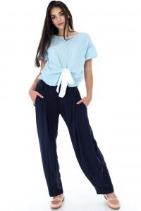 Lightweight navy blue trouser - TR278 - Aimelia