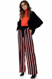 Smart striped trousers by Closet London - TR287 - Aimelia
