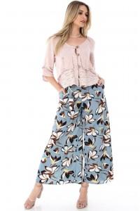 Turquoise wide leg trousers Aimelia - TR225