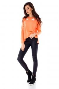 Casual Orange lightweight orange jumper by Aimelia - BR1712