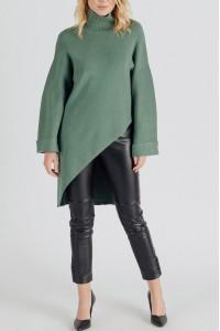Ladies oversized Polo neck - AIMELIA - Green, BR2442