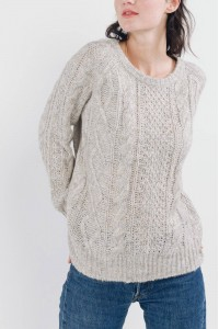 A Fine Knitted Jumper,Aimelia Br2445 in beige