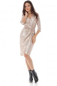 Elegant gold dress, Aimelia -   DR4046