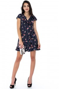 A casual Navy mini dress - Aimelia - DR3498