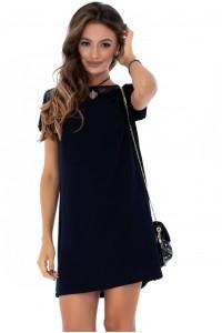 Navy simple lace dress Aimelia - DR3566