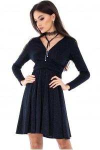 Navy velvet elegant dress- Aimelia - DR2712