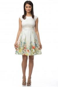 Multi Tie Back Pleated Skirt Dress-DR2918