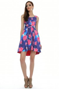 Instantly identifiable in this colourful digital print dress - DR2486