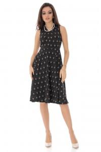 Black and gold star sleeveless evening dress, Aimelia - DR4039