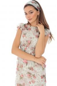 Delicate lined chiffon dress - Aimelia - DR3939