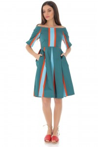 Striped cotton dress - AIMELIA