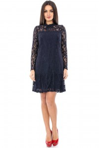 Elegant navy dress Aimelia - DR2682