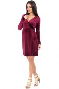 Wine wrap over dress - Aimelia - DR2692