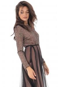 An elegant lace and net maxi dress - DR4103 - Aimelia