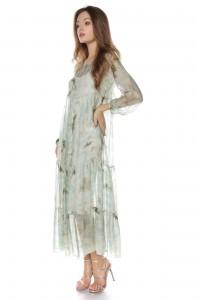 Green maxi floral dress Aimelia - DR3715