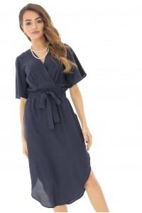 Navy midi bell sleeves dress Aimelia - DR3817