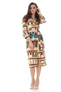 Geometric print wrap dress, Aimelia - DR4064
