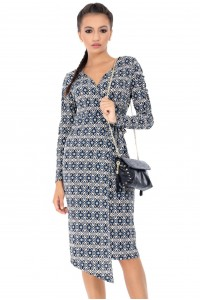 Multicolor wrapover dress Aimelia - DR3520