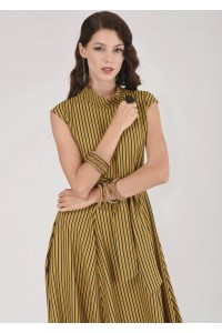 Mustard midi dress Aimelia - DR3507
