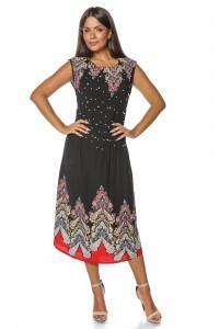 Black sleeveless midi dress Aimelia - DR3538