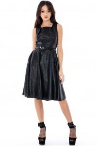 Elegant Black Closet skater Dress- Aimelia - DR2708