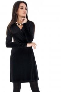 Wrapover Velvet Dress - Aimelia - DR2679