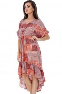 Peach hi-low dress Aimelia DR3405