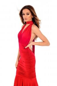 Red Goddess Dress, -Aimelia - DR3688