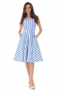 Stripe Skater Dress - AIMELIA