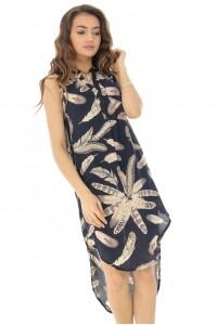 Blue hi-low dress Aimelia - DR3837