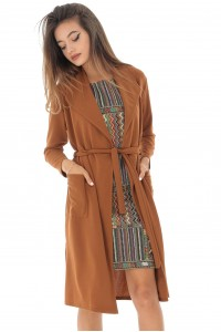 Caramel trench, with two pockets, Aimelia - JR456
