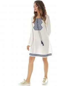 White long sleeves tunic Aimelia - DR3819